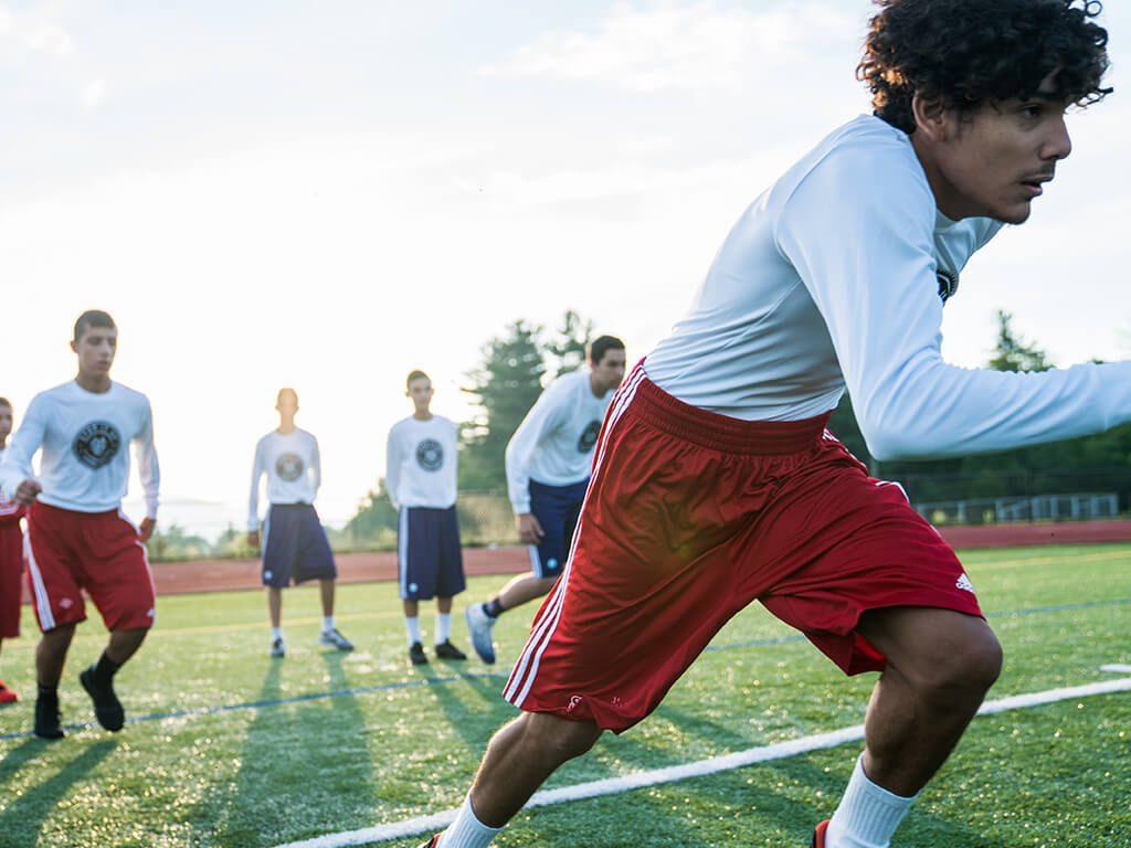 אימון כדורגל באקדמיה